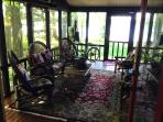 The porch - one of our favorite rooms...