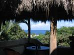 View from under the palapa-covered terrace