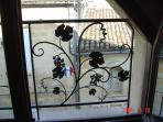 Le Bouquet has many special features, upstairs mezzanine window.
