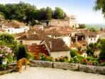 view over Aubeterre, one of the most beautiful villages in France