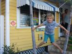Kids love hanging around the Captain's House
