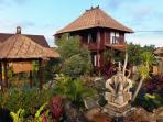 House and gazebo