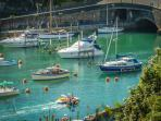 looe harbour view