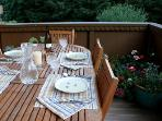 Summer dining on the balcony
