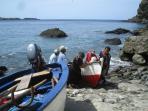 Fishing boats in Fajã d'Água