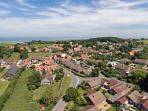 Ariel view of Weybourne - featuring Home Farm Holiday Cottages
