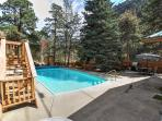 Enjoy the private heated pool. Listen to the river or the sonus surround sound!