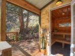 Mountain side Sauna Deck.  Beautiful Outlook Area