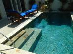 Pool Area with handrail