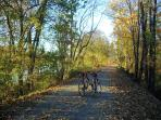 Bring your bikes (or rent them when you get here) and ride into town on the Delaware Canal Towpath.