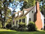The Cottage chimney is an exact replica of one we admired on a house in Colonial Williamsburg.