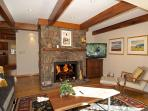 Cozy Fireplace with Flat Screen TV