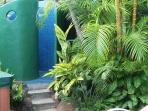 Private lanai with outdoor shower and personal hot tub