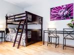 Bedroom 3: double-double bunk bed (sleeps 4)