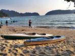 Canoeing activity at private beach