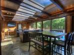 Poolside Sunroom Dining Area