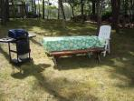 Picnic area with gas grill - 139 Clearwater Drive Harwich Cape Cod New England Vacation Rentals