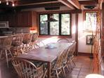 Large table for family dining and breakfast bar - 28 Sears Point Road Chatham Cape Cod New England Vacation Rentals
