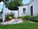 Entry to rental - 45 Route 28 West Harwich Cape Cod New England Vacation Rentals