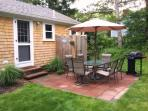 Back Patio with gas grill - 37 Jacqueline Circle West Yarmouth Cape Cod New England Vacation Rentals