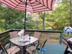Deck with outdoor seating - 122 Tracy Lane Brewster Cape Cod New England Vacation Rentals
