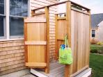Enclosed Outdoor shower - 39 Old County Road South Harwich Cape Cod New England Vacation Rentals
