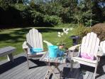 Back Deck - 325 Bridge Street Chatham Cape Cod New England Vacation Rentals