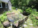 Patio Set with gas grill - 5 Ocean Street South Harwich Cape Cod New England Vacation Rentals