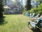 Back yard with plenty of seating -and plenty of room for the kids and Fido to run around- 14 Capri Lane Chatham Cape...