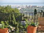 view from terrace of cannes bay