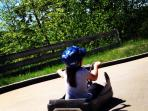 Tremblant Luge (Karting down the mountain) for all ages! FUN FUN FUN
