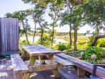 Deck and Outside Shower, Views Across Menemsha Pond