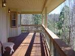 Back deck, Pine Mountain Lake vacation rental Casa Del Lago