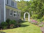 Plenty of living space inside and out at this beautiful vacation home in Brewster by the Bay.