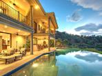 Back of Villa with Infinity Pool