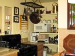 Stove, Microwave, and Pantry