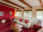 Galleried ceiling & log burning stove for cosy evenings