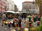 The flower market in Tirso de Molina