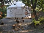 Our guests can also enjoy a North American style tepee with fantastic lake and mountain views