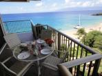 Side lanai offers dining for breakfast, lunch or dinner and the amazing views!