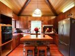 Nice kitchen opening out to deck & Gas BBQ