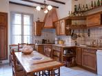 A well equipped kitchen is great for an informal meal
