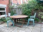 Garden table seats 8