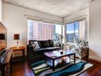 Stay Alfred Denver Vacation Rental Living Room