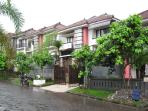 Front look of the house inside Pecatu Indah Resort in big estate
