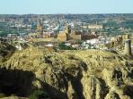 Vue panoramique sur Guadix depuis la maison