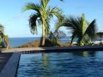 Sea view from the private pool