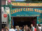 Vibrant Camden Town market