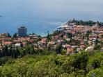 Town of Opatija, right below Opatija Hills estate (view from tennis court)