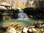 One of the many waterfalls in Fairfield Bay